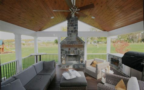 fireplace on screened porch maryland screen porch builders mcwhorter outdoor living