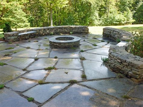 stone backyard patio stone patio google search outdoor projects pinterest