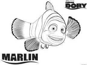 Disney Coloring Pages Finding Nemo by Marlin From Finding Nemo Disney Coloring Pages Printable
