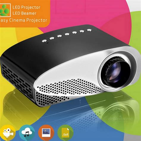 Proyektor Gp8s vivibright gp8s mini lcd projector w dual hdmi mhl black silvery grey free shipping dealextreme