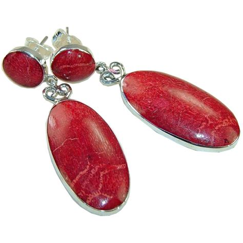 925 Sterling Silver Coral Earrings sterling silver coral earrings earrings with