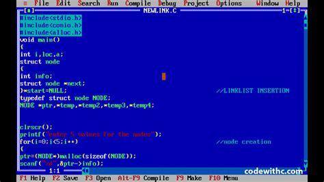 circle pattern in c programming c program implementation of circular linked list code