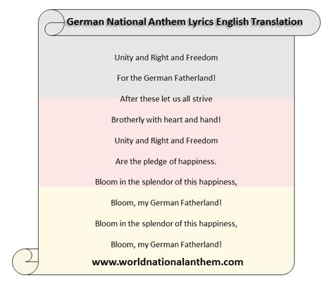 national anthem germany german national anthem lyrics english translation