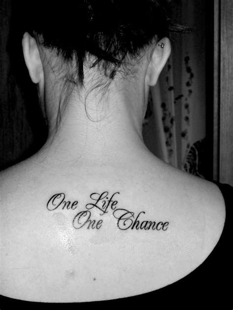 one life one chance tattoo one one chance