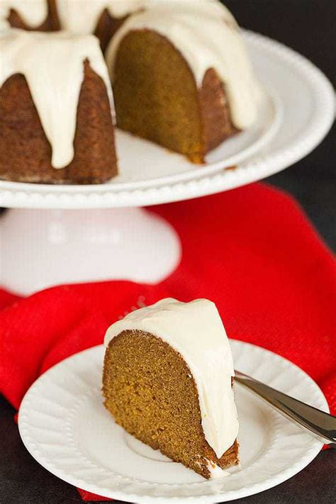 gingerbread bundt cake  cream cheese icing brown eyed baker