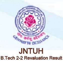 Jntuh Mba 1st Sem Results by Jntuh B Tech 2 2 Revaluation Recounting Result 2018 R15