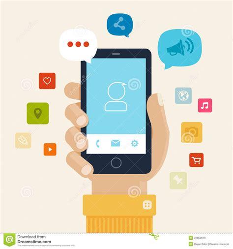 home design phone app smartphone apps flat icon design stock vector image