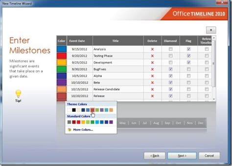 milestone template powerpoint create powerpoint timelines in just 2 minutes with office