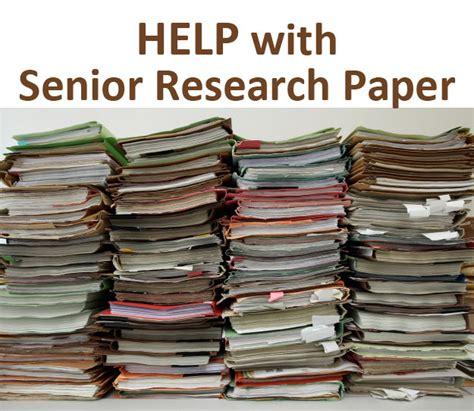 senior research paper senior research paper