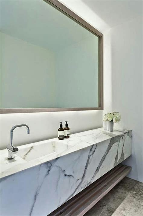 wall mounted marble sink 37 marble bathroom design ideas to inspire you interior god
