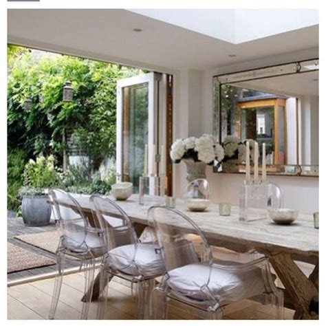 Dining Table With Ghost Chairs Dining Room Inspiration Inspired Modern And Rustic Acrylic Ghost Chairs With
