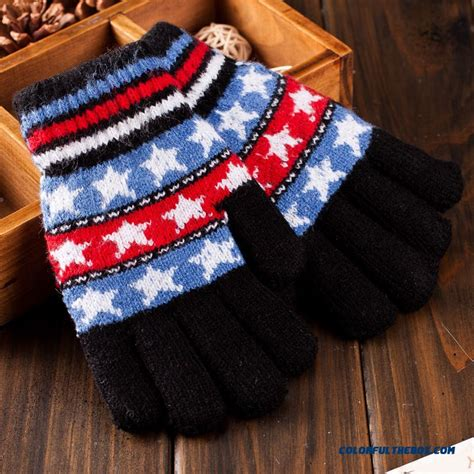 knitting pattern for childrens gloves with fingers cheap new warmth mittens five fingers knit