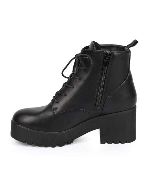 Boots Be 01 new cobra 01 leatherette lug sole chunky
