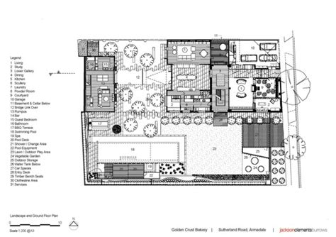 floor plan of a bakery golden crust bakery jackson clements burrows architects