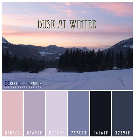 Winter Color Schemes | winter color palettes for design inspiration colour