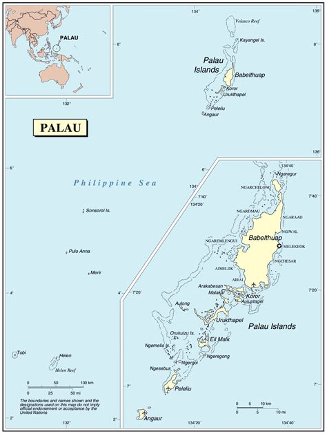 palau map large detailed political map of palau with cities and airports vidiani maps of all