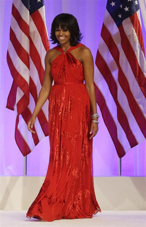 michelle obama dresses behold a lady michelle obama stuns in ruby jason wu gown