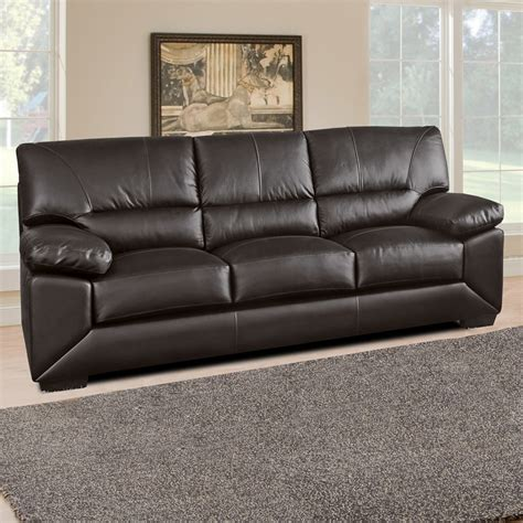 100 Leather Sofa Lenzari Italian Inspired 100 Real Leather Sofa Collection In Brown Cowhide