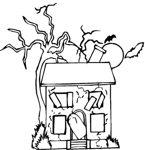 printable coloring pages of haunted houses haunted house coloring pages