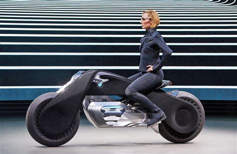 bmw bike concept bmw s motorcycle of the future doesn t require a helmet
