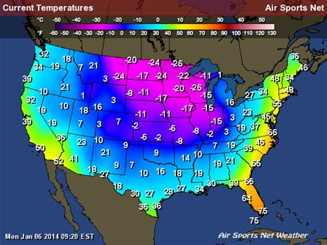 us weather map current temperatures current us temperature map newhairstylesformen2014