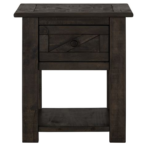 accent table storage city furniture garrett dark tone storage end table
