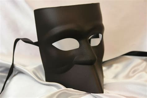 blank white black bauta masquerade mask  man boys halloween midnight costume ebay