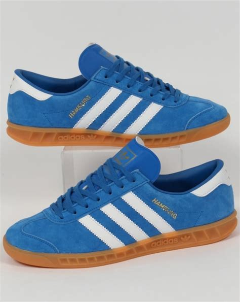 adidas hamburg trainers bluebird white gum originals shoes mens sneakers