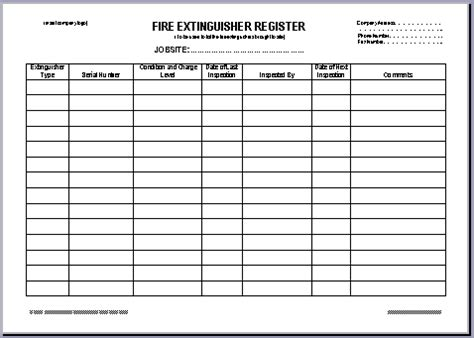 Fire Extinguisher Monthly Log Pictures To Pin On Pinterest Pinsdaddy Monthly Extinguisher Inspection Form Template