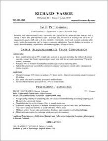 Combined Resume Exles by A Resume Exle In The Combination Resume Format