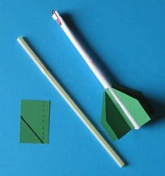 build a paper rocket and send it flying with a single puff
