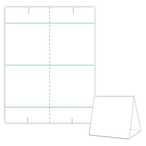 table tent template free printable editable file download