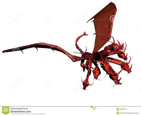 sette teste il drago rosso fotografia stock immagine 22665772
