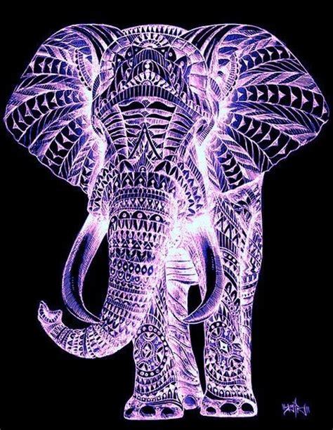 elephant tattoo purple mystical purple elephant art pinterest