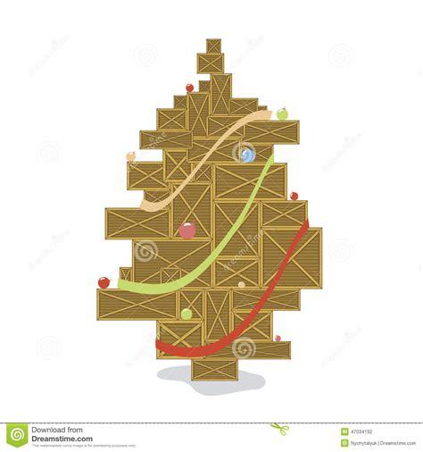holzkiste stilisierter weihnachtsbaum mit farbb 228 llen