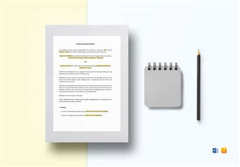 planner contract template 11 catering contract templates free word pdf