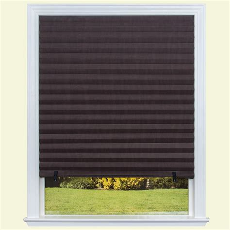 paper l shades redi shade chocolate brown paper pleated shade 36 in w