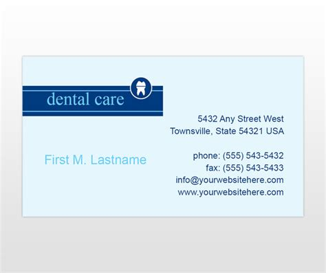 dentist business card template document moved