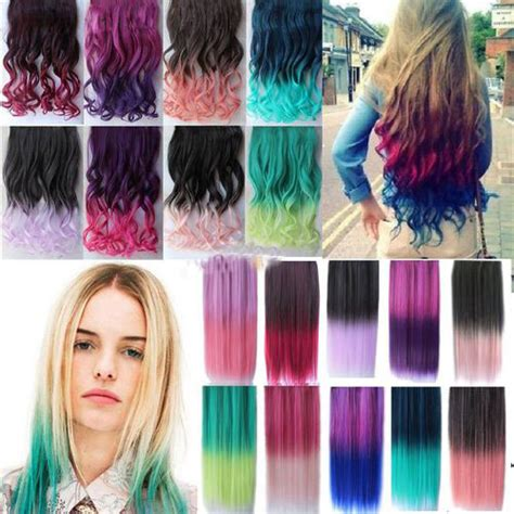 Hairclip Curly 30cm gift colorful hair ombre hair extensions