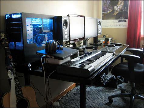 dual monitor desk setup 15 must see desk setup pins monitor stand wood