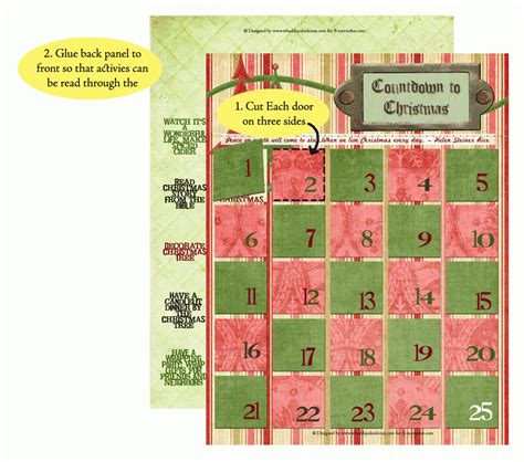 Free Printable Advent Calendar Template by Free Printable Advent Calendar Countdown