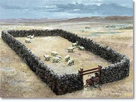 I Am The Door Of The Sheep by I Am The Shepherd Keeping The Sheep Gate In The
