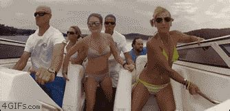 party boat gif the gallery for gt bikini top fail gif