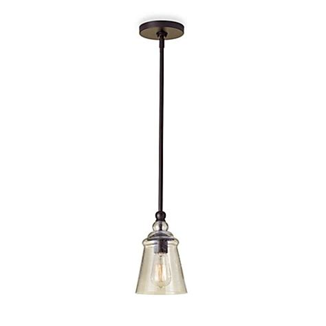 Feiss 174 Oil Rubbed Bronze Mini Pendant Light Bed Bath Rubbed Bronze Kitchen Pendant Lighting