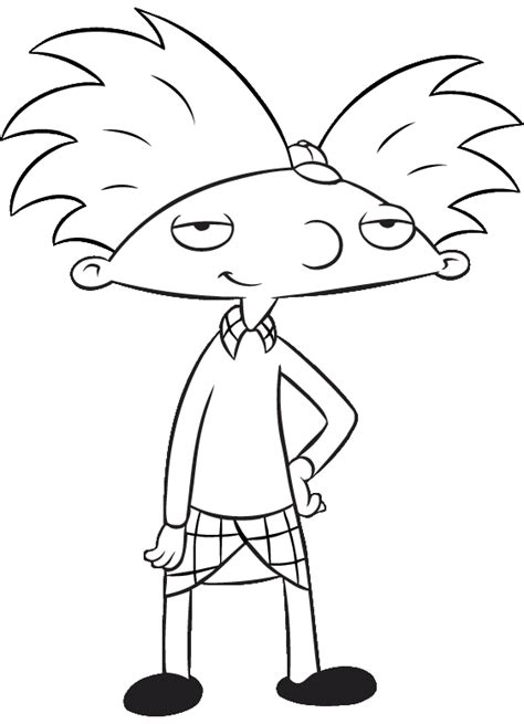 Hey Arnold Coloring Pages hey arnold coloring pages coloringpages1001