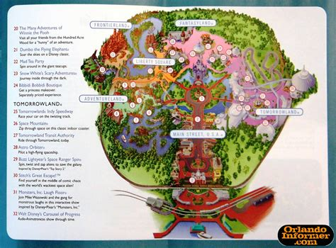 printable maps for magic kingdom 2011 walt disney world vacation brochure let the memories