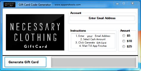 Clothes Gift Cards - necessary clothing gift card generator online necessary clothing gift card generator