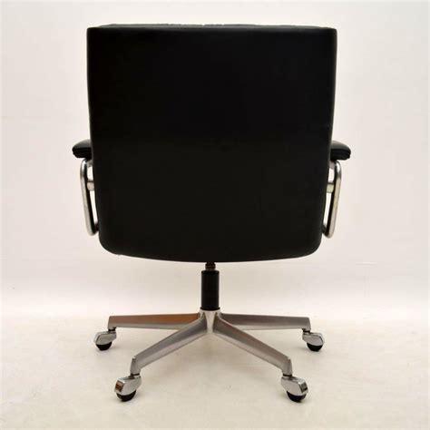retro leather desk chair retro leather swivel desk chair by girsberger vintage 1960