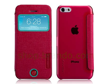 Walnutt Color Flip Iphone 5c Pink momax iphone 5c flip view cover