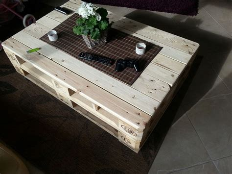 Pallet Coffee Table With Storage, Slide Out And Lift   Home Design, Garden & Architecture Blog